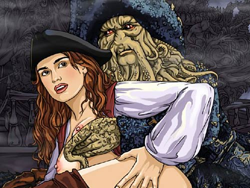 Keira Knightley in un fumetto porno